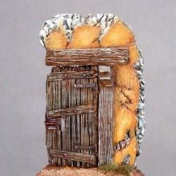 Porte de maison rustique à peindre