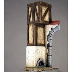 Ruine de porte d'auberge à peindre