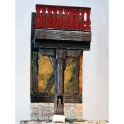 Mur de maison avec balcon à peindre