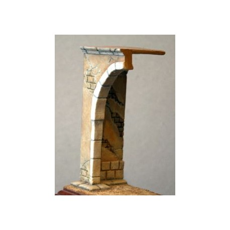 Arche de porte en ruine à peindre