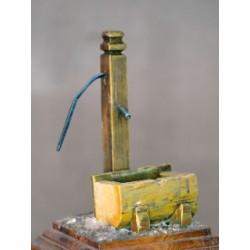 Fontaine rustique à peindre